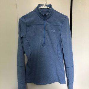 light blue puma (golf) half zip jacket